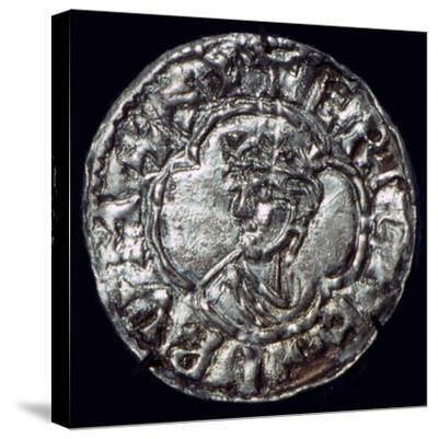 Silver penny of the Irish King Sigtrygg Silkbeard. Artist: Unknown-Unknown-Stretched Canvas Print