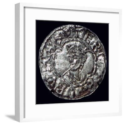 Silver penny of the Irish King Sigtrygg Silkbeard. Artist: Unknown-Unknown-Framed Giclee Print
