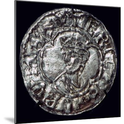 Silver penny of the Irish King Sigtrygg Silkbeard. Artist: Unknown-Unknown-Mounted Giclee Print