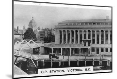 Canadian Pacific Station, Victoria, British Columbia, Canada, c1920s. Artist: Unknown-Unknown-Mounted Photographic Print