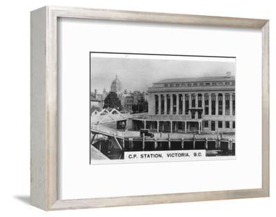 Canadian Pacific Station, Victoria, British Columbia, Canada, c1920s. Artist: Unknown-Unknown-Framed Photographic Print