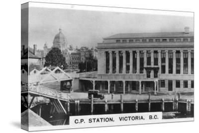 Canadian Pacific Station, Victoria, British Columbia, Canada, c1920s. Artist: Unknown-Unknown-Stretched Canvas Print
