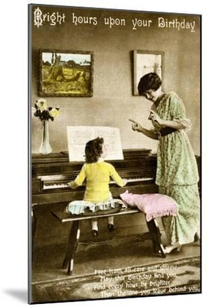 'Bright hours upon your Birthday', early 20th century. Artist: Unknown-Unknown-Mounted Giclee Print