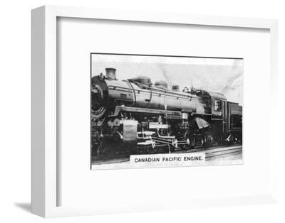 Canadian Pacific passenger engine, Canada, c1920s. Artist: Unknown-Unknown-Framed Photographic Print