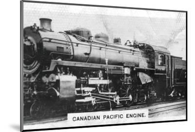 Canadian Pacific passenger engine, Canada, c1920s. Artist: Unknown-Unknown-Mounted Photographic Print