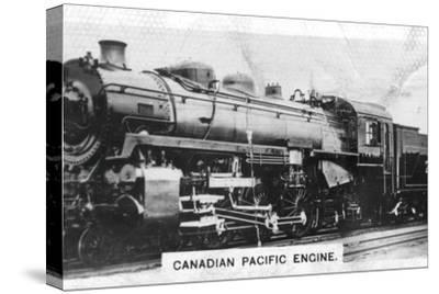 Canadian Pacific passenger engine, Canada, c1920s. Artist: Unknown-Unknown-Stretched Canvas Print