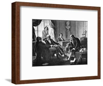 Ludwig van Beethoven and his friends, (1770-1827), German composer, 1909. Artist: Unknown-Unknown-Framed Giclee Print