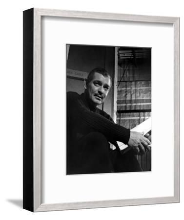 Clark Gable, Academy Award-winning American film actor. Artist: Unknown-Unknown-Framed Photographic Print