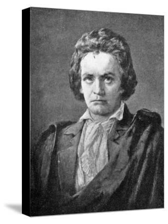 Ludwig van Beethoven, (1770-1827), German composer, 1909. Artist: Unknown-Unknown-Stretched Canvas Print