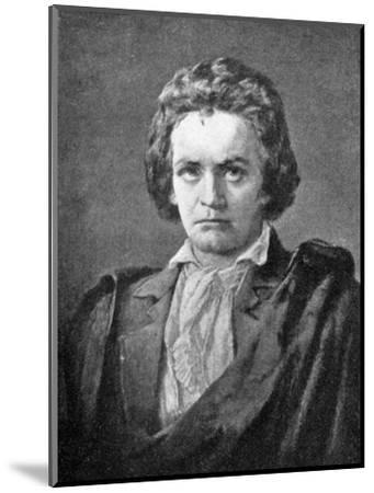 Ludwig van Beethoven, (1770-1827), German composer, 1909. Artist: Unknown-Unknown-Mounted Giclee Print