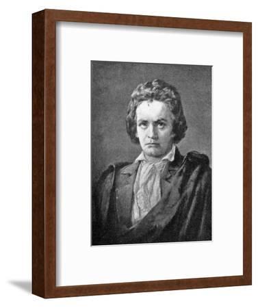 Ludwig van Beethoven, (1770-1827), German composer, 1909. Artist: Unknown-Unknown-Framed Giclee Print