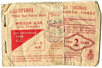 Motor fuel ration book, 1957. Artist: Unknown-Unknown-Framed Giclee Print