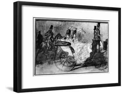 'Taking the Air', 19th century, (1930). Artist: Constantin Guys-Constantin Guys-Framed Giclee Print
