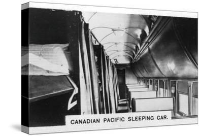 Canadian Pacific sleeping car, Canada, c1920s. Artist: Unknown-Unknown-Stretched Canvas Print