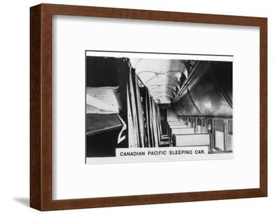 Canadian Pacific sleeping car, Canada, c1920s. Artist: Unknown-Unknown-Framed Photographic Print