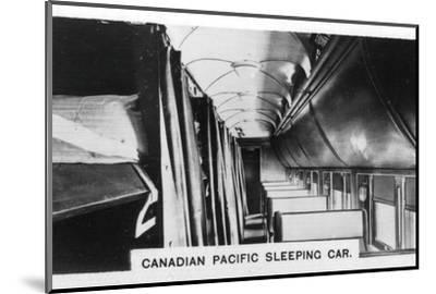 Canadian Pacific sleeping car, Canada, c1920s. Artist: Unknown-Unknown-Mounted Photographic Print