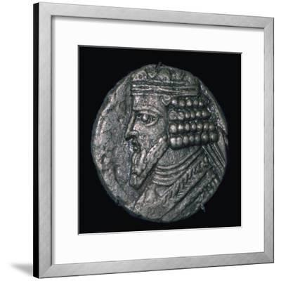 Silver tetradrachm of King Gotarzes II of Parthia (ruled 41 to 51), 1st century. Artist: Unknown-Unknown-Framed Giclee Print
