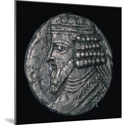Silver tetradrachm of King Gotarzes II of Parthia (ruled 41 to 51), 1st century. Artist: Unknown-Unknown-Mounted Giclee Print