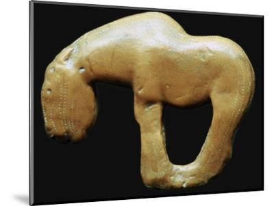 Neolithic amber horse. Artist: Unknown-Unknown-Mounted Photographic Print