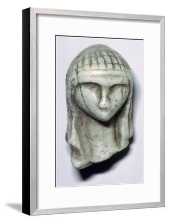 Paleolithic ivory female head. Artist: Unknown-Unknown-Framed Giclee Print