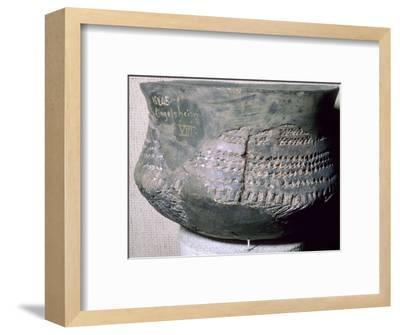 Neolithic pot from Alsace. Artist: Unknown-Unknown-Framed Photographic Print