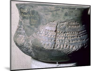 Neolithic pot from Alsace. Artist: Unknown-Unknown-Mounted Photographic Print
