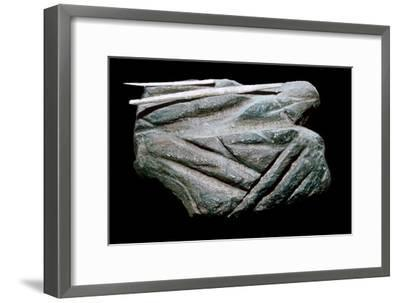 Paleolithic Polishing-Stone. Artist: Unknown-Unknown-Framed Giclee Print