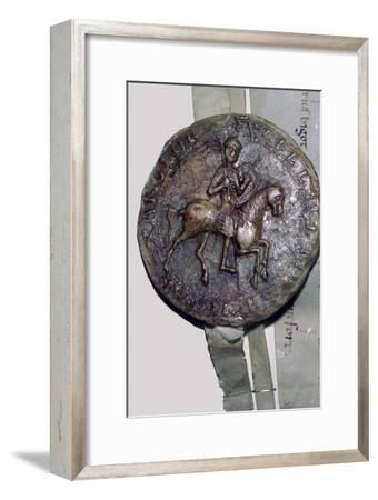 Seal of King William II of England. Artist: Unknown-Unknown-Framed Giclee Print