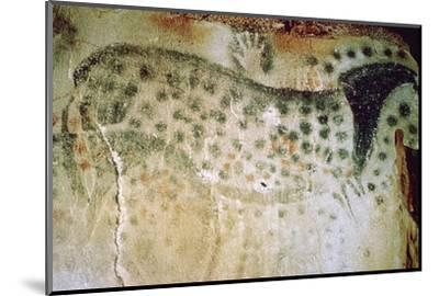 Paleolithic cave-painting of a horse and human hands from France. Artist: Unknown-Unknown-Mounted Photographic Print