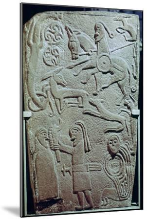 Detail of a Pictish Stone with biblical scenes, 9th century. Artist: Unknown-Unknown-Mounted Giclee Print