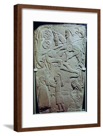 Detail of a Pictish Stone with biblical scenes, 9th century. Artist: Unknown-Unknown-Framed Giclee Print