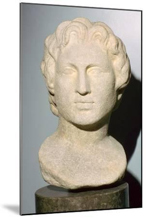 Roman copy of a lost Greek original bust of Alexander the Great, 350 BC. Artist: Unknown-Unknown-Mounted Giclee Print