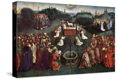 'The Adoration of the Mystic Lamb', The Ghent Altarpiece, 1432, (c1900-1920).Artist: Jan van Eyck-Jan van Eyck-Stretched Canvas Print