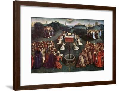'The Adoration of the Mystic Lamb', The Ghent Altarpiece, 1432, (c1900-1920).Artist: Jan van Eyck-Jan van Eyck-Framed Giclee Print