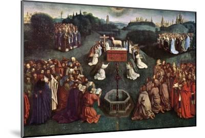 'The Adoration of the Mystic Lamb', The Ghent Altarpiece, 1432, (c1900-1920).Artist: Jan van Eyck-Jan van Eyck-Mounted Giclee Print
