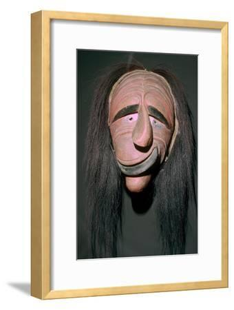 Iroquois false-face mask which belonged to a member of the 'False Face Band'. Artist: Unknown-Unknown-Framed Giclee Print