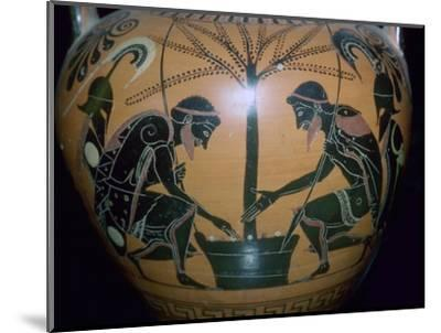 Vase-painting of Achilles and Ajax playing dice. Artist: Unknown-Unknown-Mounted Giclee Print