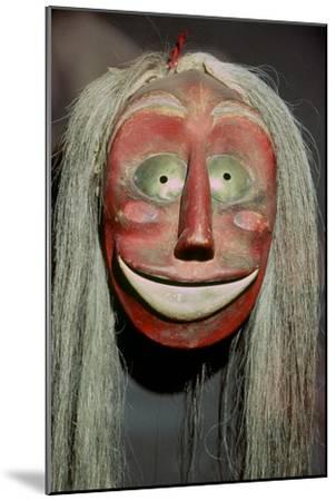 Iroquois false-face mask which belonged to a member of the 'False Face Band'. Artist: Unknown-Unknown-Mounted Giclee Print