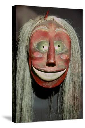 Iroquois false-face mask which belonged to a member of the 'False Face Band'. Artist: Unknown-Unknown-Stretched Canvas Print