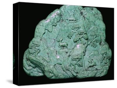 Chinese Quing Dynasty turquoise carving of a mountain, 18th century Artist: Unknown-Unknown-Stretched Canvas Print