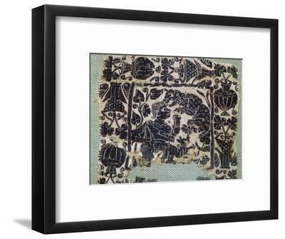 Coptic Textie of a panther attacking a man, 6th century. Artist: Unknown-Unknown-Framed Giclee Print