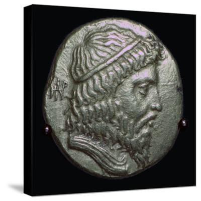 Gold Stater of King Andragoras of Parthia, 3rd century BC. Artist: Unknown-Unknown-Stretched Canvas Print