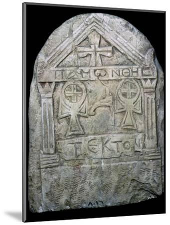 Transitional Coptic funerary Stela, 3rd Century. Artist: Unknown-Unknown-Mounted Giclee Print