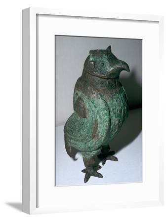 Chinese Bronze Ritual Vessel, 10th century BC. Artist: Unknown-Unknown-Framed Giclee Print