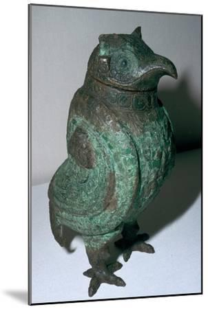 Chinese Bronze Ritual Vessel, 10th century BC. Artist: Unknown-Unknown-Mounted Giclee Print