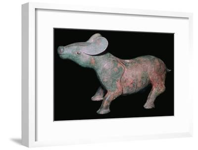 Chinese Bronze Tapir-like animal. Artist: Unknown-Unknown-Framed Giclee Print