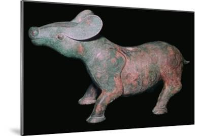 Chinese Bronze Tapir-like animal. Artist: Unknown-Unknown-Mounted Giclee Print