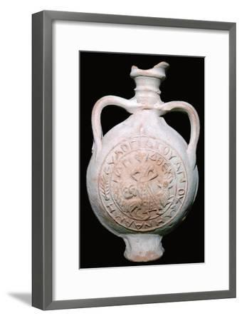 Coptic Pilgrim Flask, 4th-5th century. Artist: Unknown-Unknown-Framed Giclee Print