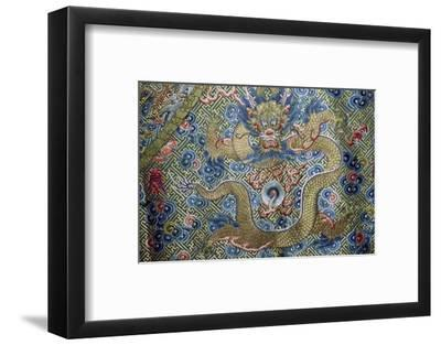 Dragon on a nineteenth century Court Robe, 19th century. Artist: Unknown-Unknown-Framed Photographic Print