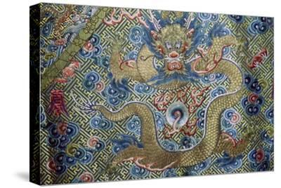Dragon on a nineteenth century Court Robe, 19th century. Artist: Unknown-Unknown-Stretched Canvas Print